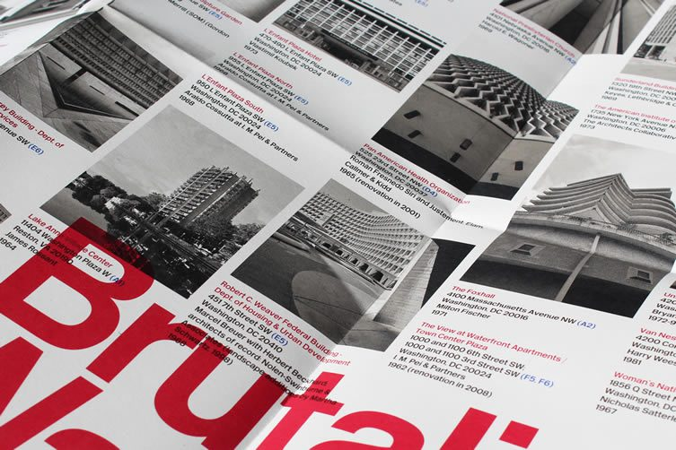 Brutalist Washingto​n Map by Blue Crow Media in collaboration with Deane Madsen