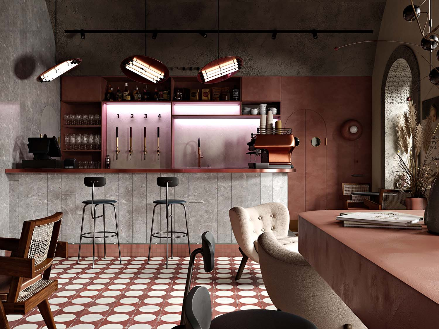 Buhairest Budapest Bar Designed by Roman Plyus Art Consultant Angelica Chernenko