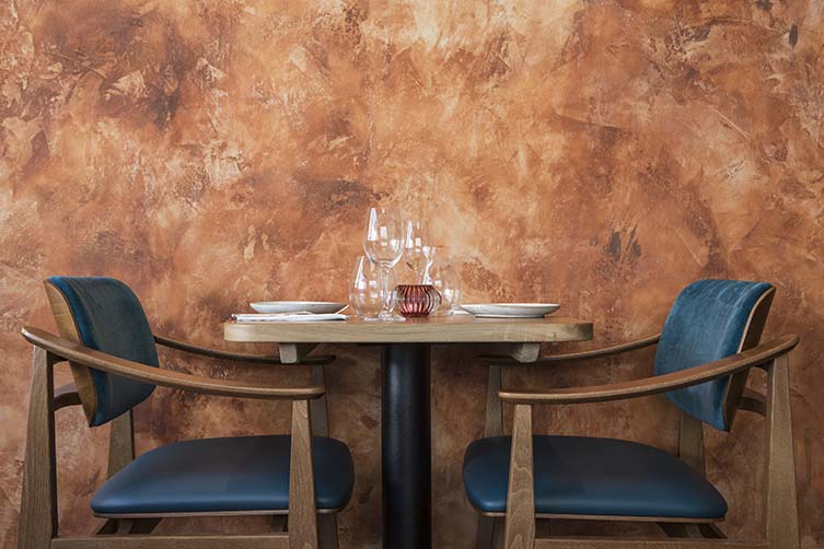 Restaurant Oak Table Top and chairs