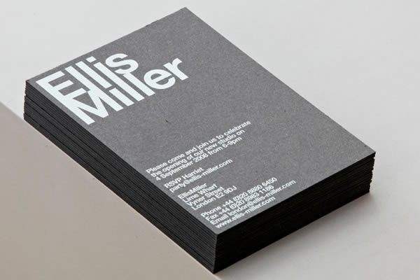 Business card design now inspiration from leading designers ellismiller reheart Image collections