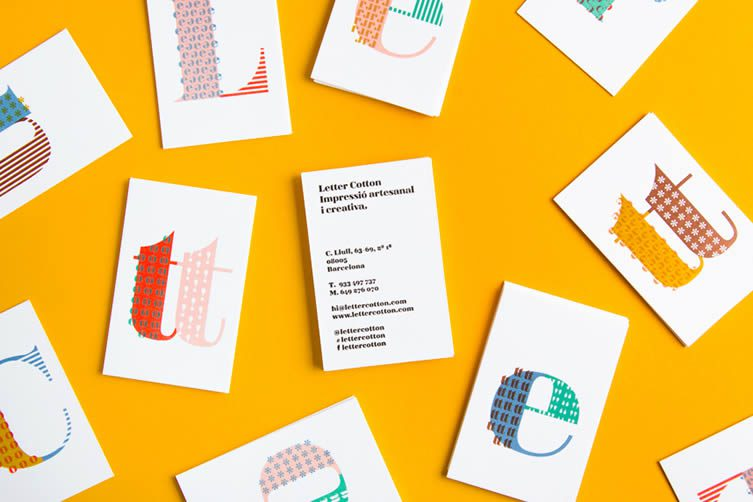 Business card design now inspiration from leading designers letter cotton reheart Gallery