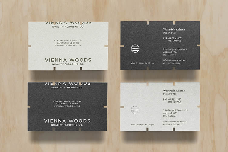 Business card design now inspiration from leading designers vienna woods by anagrama reheart Image collections