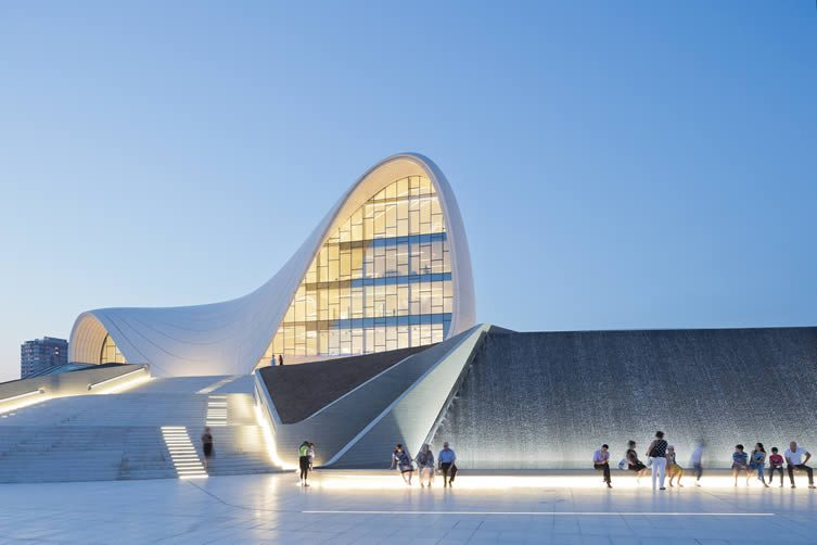 Business card design now inspiration from leading designers zaha hadids heydar aliyev cultural center reheart Image collections