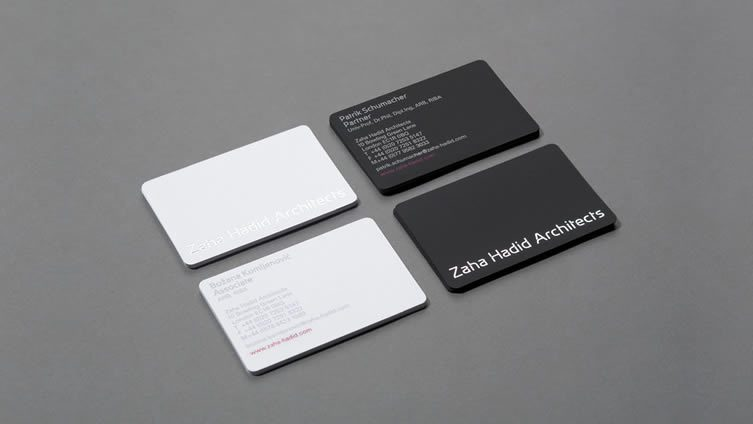 Business card design now inspiration from leading designers zaha hadid business card reheart Choice Image