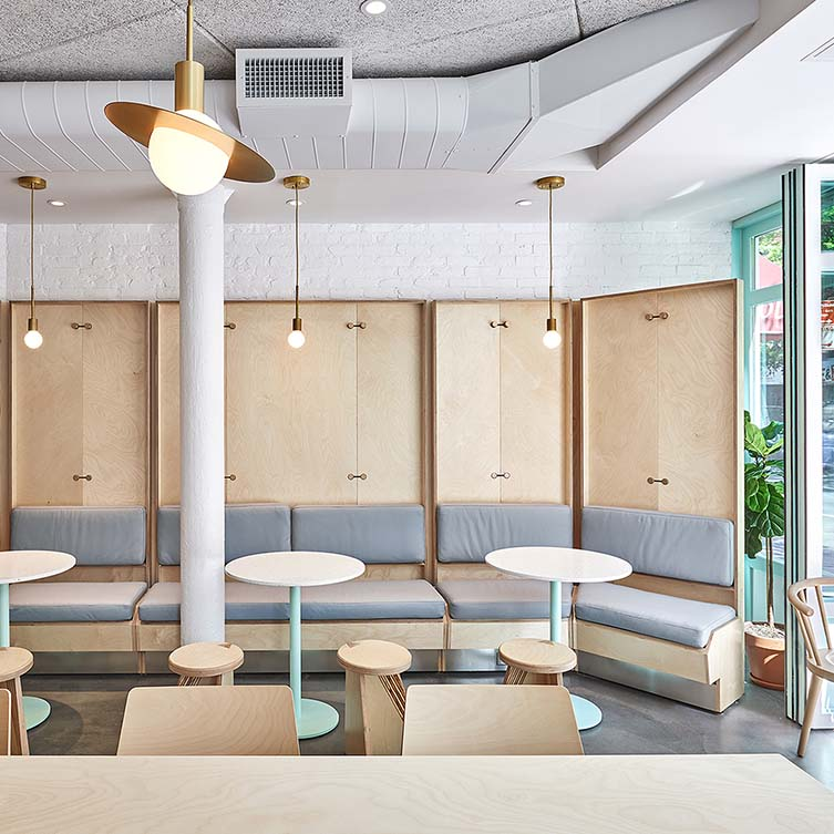 Junzi Kitchen Bleecker Street Restaurant by Xuhui Zhang is Winner in Interior Space and Exhibition Design Category, 2018 - 2019.