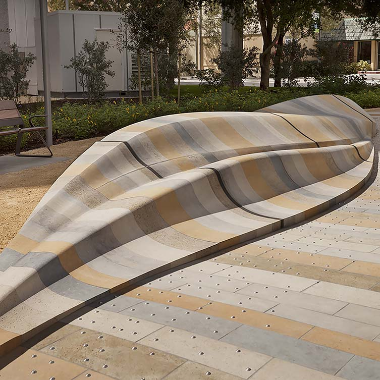Topography 1 Seating Sculpture by Mikyoung Kim is Winner in Street Furniture Design Category, 2017 - 2018.