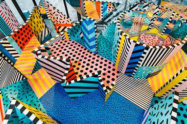 Walala Land: Designer Camille Walala transforms Greenwich's NOW Gallery into a mind-bending maze.