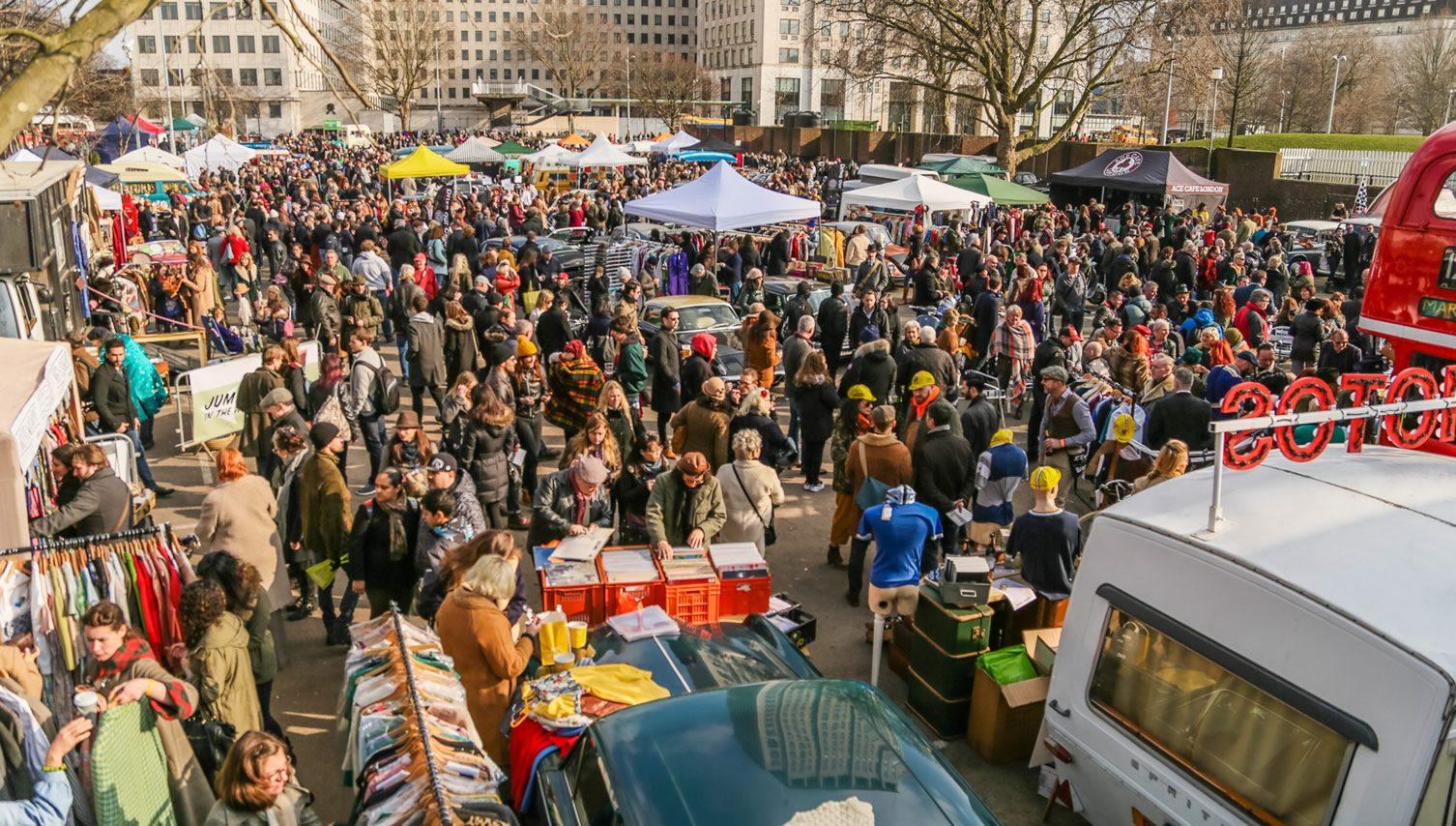 Classic Car Boot Sale Lewis Cubitt Square London