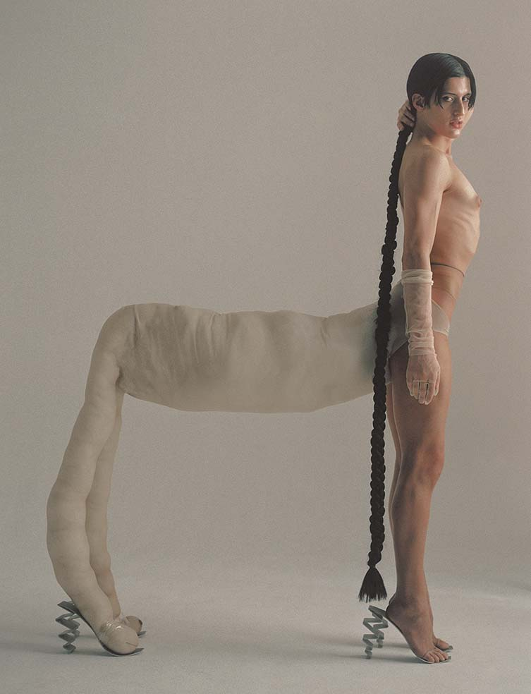 Arca in collaboration with Carlos Sáez for PAPER Mag 2020