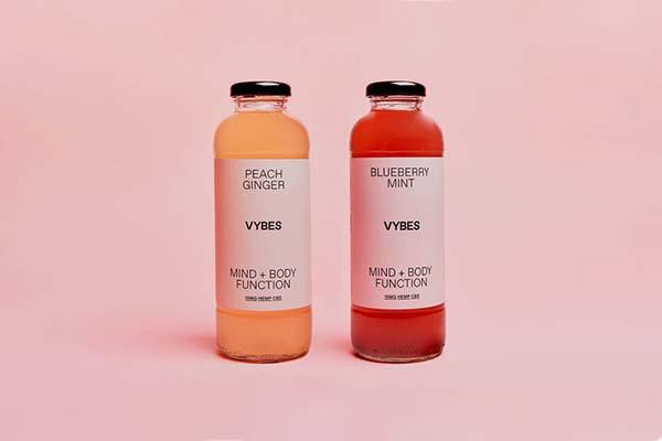 Hemp-derived CBD drink, Vybes