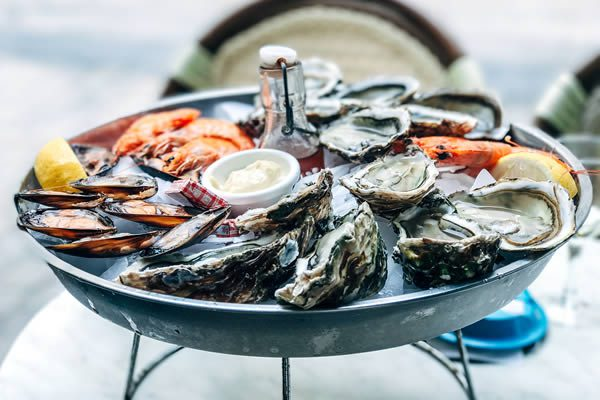 Seafood platter in Séte
