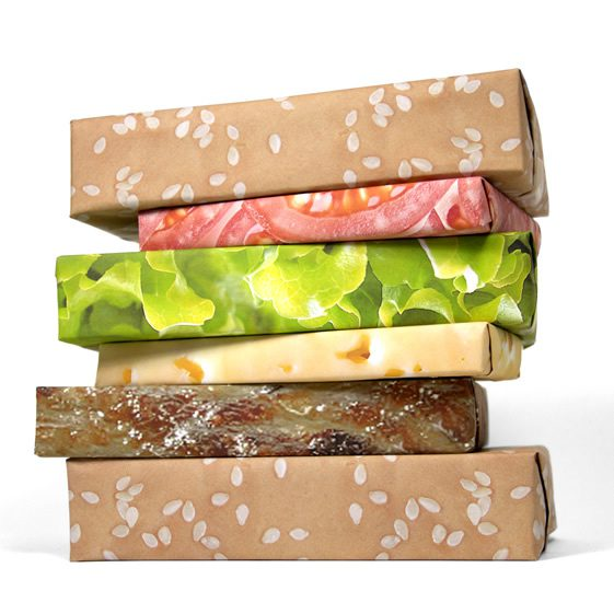 Cheeseburger Wrapping Paper by Gift Couture