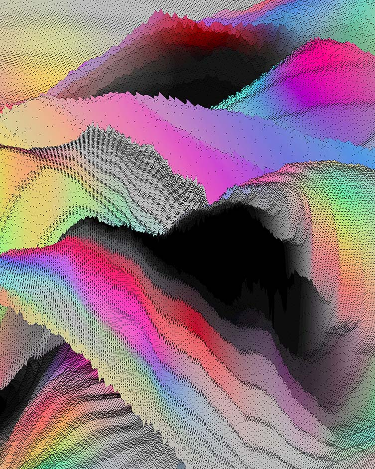 Alpha Waves, experimental 3D graphics