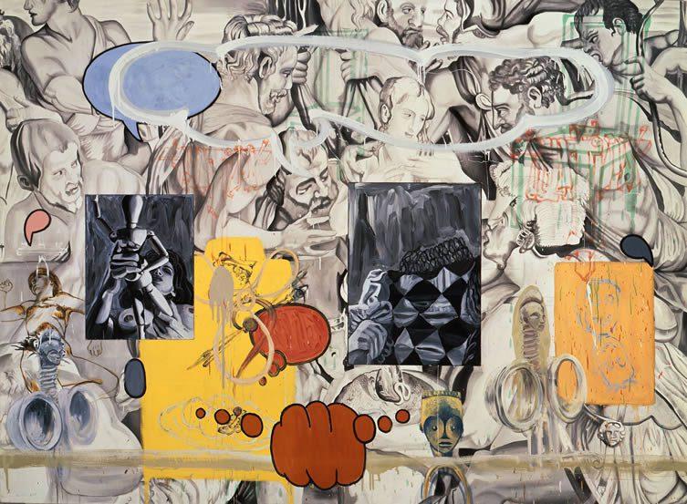 David Salle (b.1952) Nadar's Grey