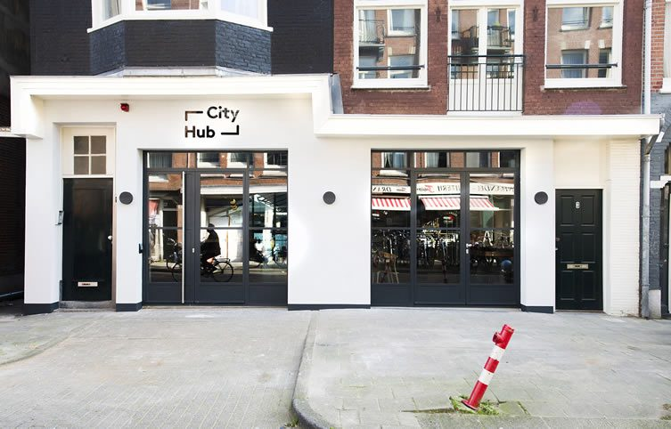 Cityhub amsterdam tech led city budget hotel for Smart city design hotel