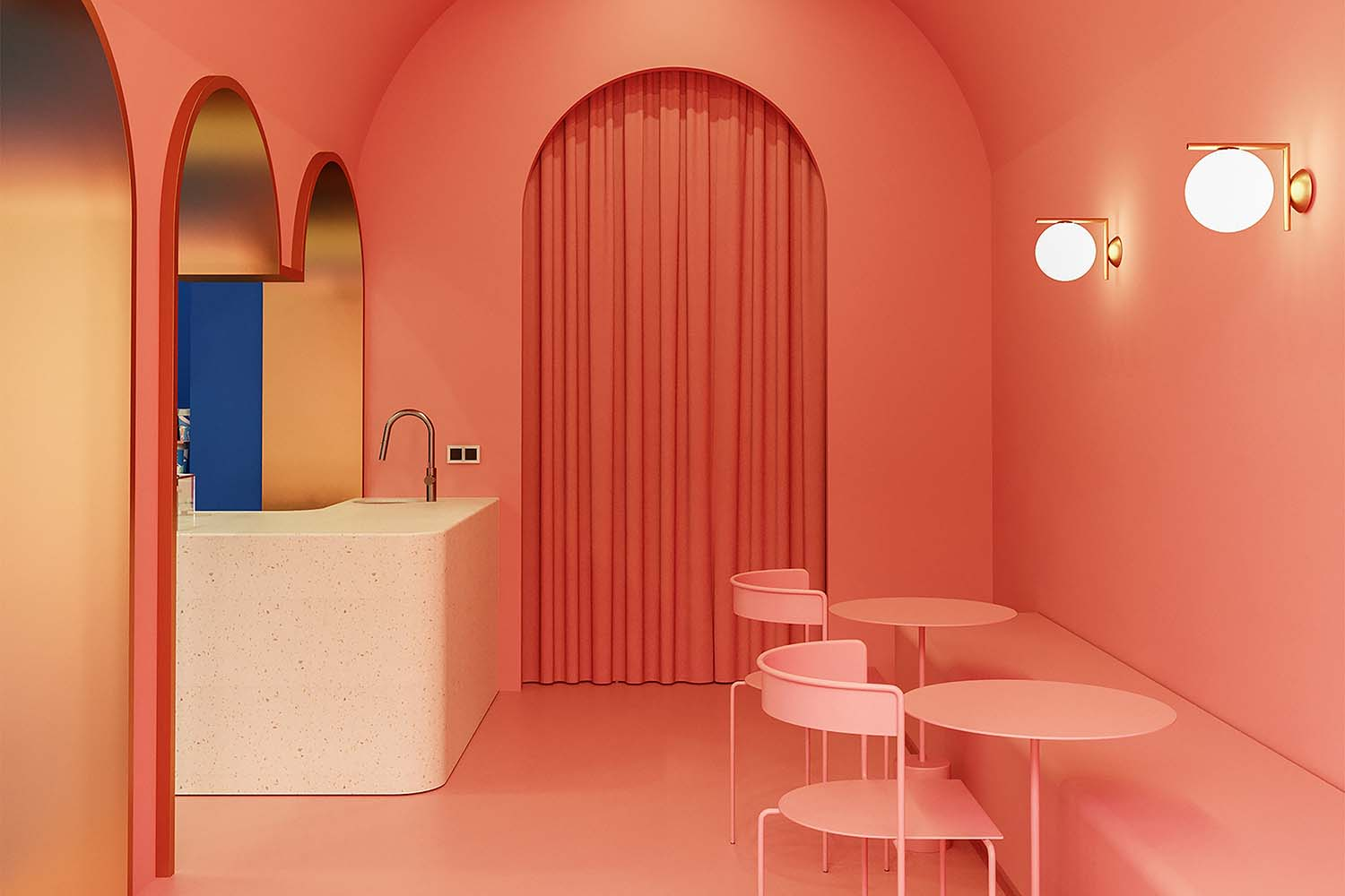 Cloud and Co Doha Qatar Gelato Store Designed by Futura