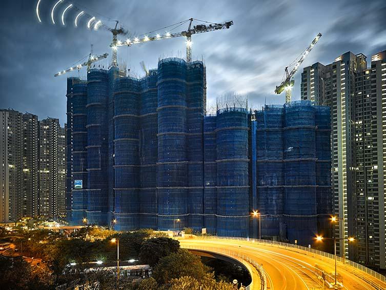 Cocoon and Cranes, Hong Kong, 2008