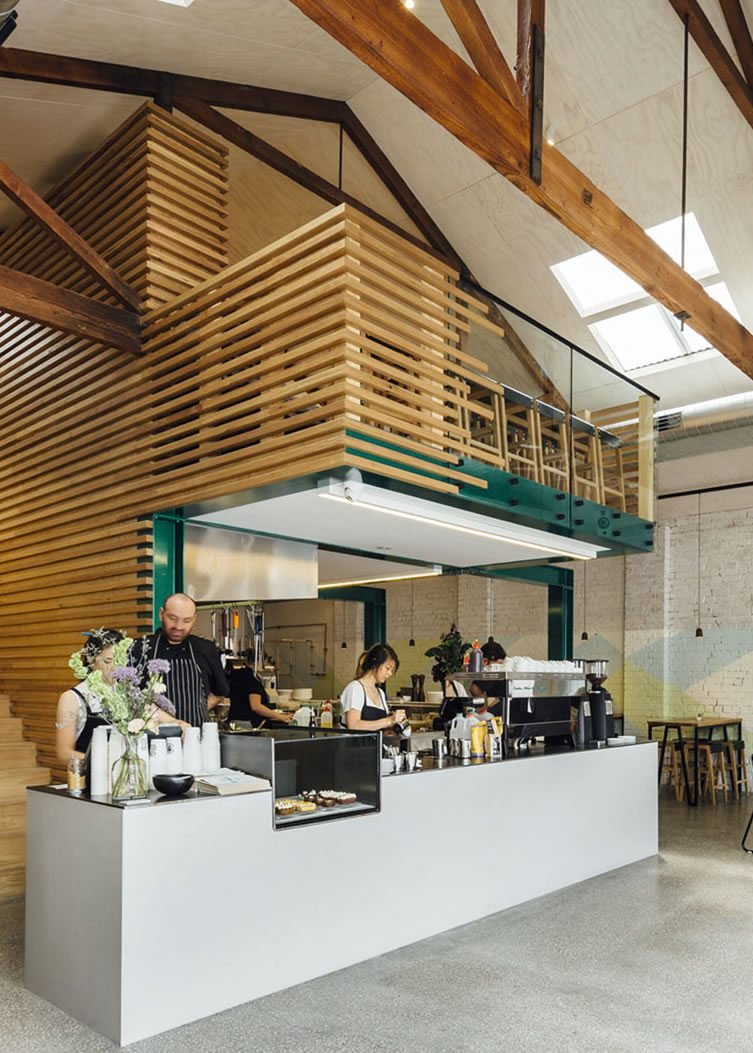 Code black coffee 119 howard street cafe melbourne - Commercial interior design codes ...