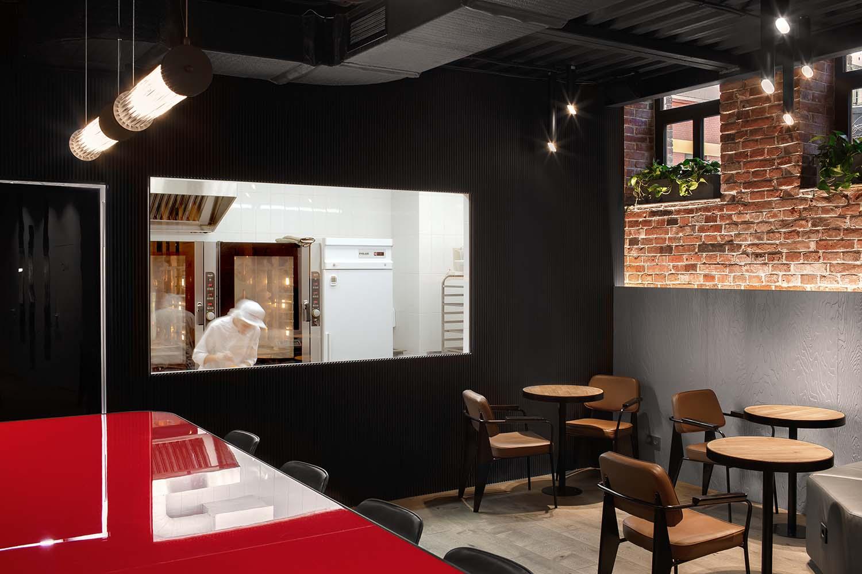 Coffee Machine Bakery Vladivostok, Café Designed by Miyao