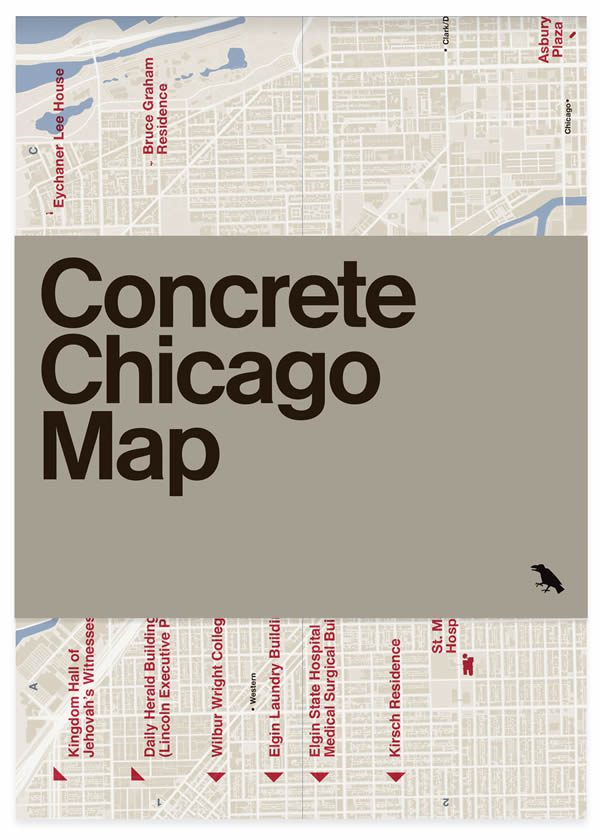 Concrete Chicago Architecture Map by Blue Crow Media with Iker Gil and Jason Woods