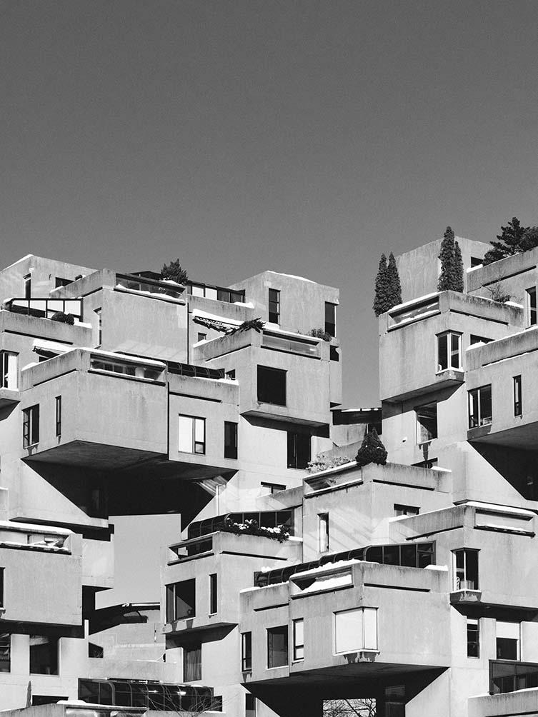 Habitat 67 by Moshe Safdie; David, Barott, Boulva