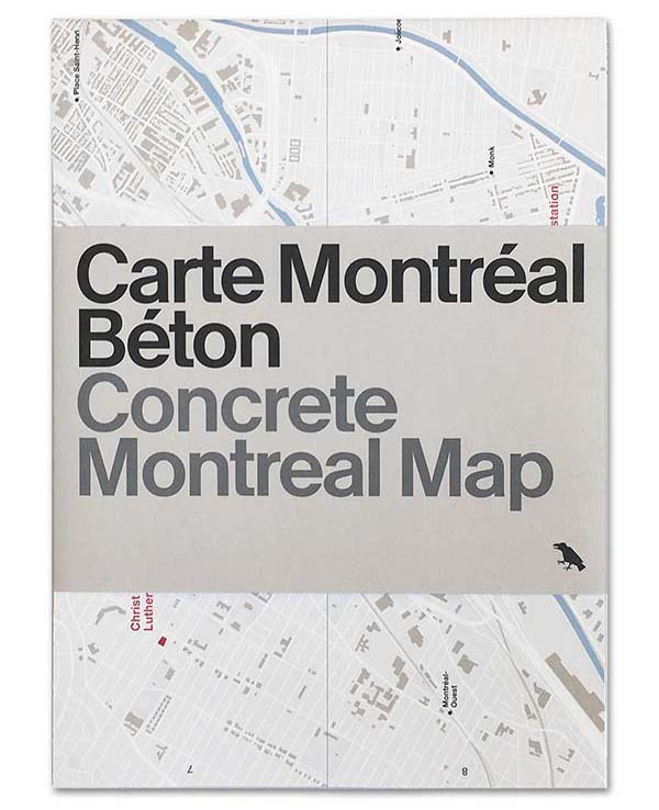 Concrete Montreal Map, Carte Montréal Béton, Montreal's Concrete Architecture Mapped