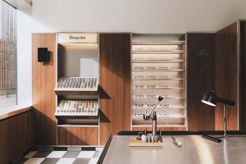 Cubitts Soho by Child Studio, Retro Glasses Shop Marshall Street London