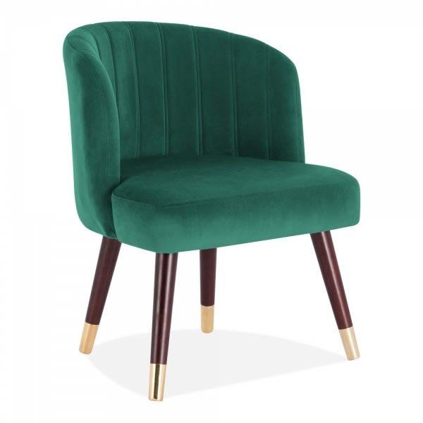 Green Velvet Lola Dining Chair