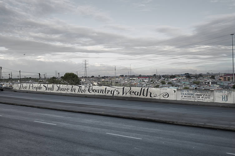 The People Shall Share the Country's Wealth, Khayelitsha, Cape Town