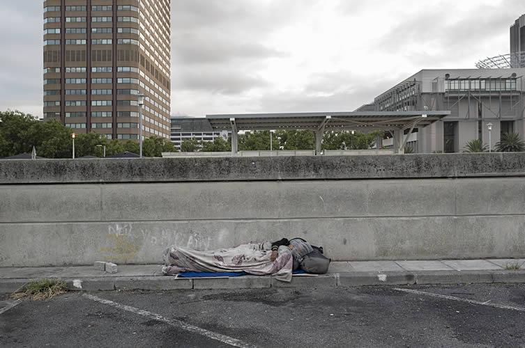 Homeless, train station precinct, city center