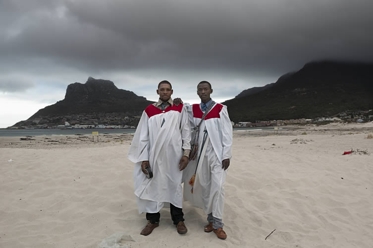 Members of the Zion Church of God, Sunday morning, Hout Bay beach, 2014
