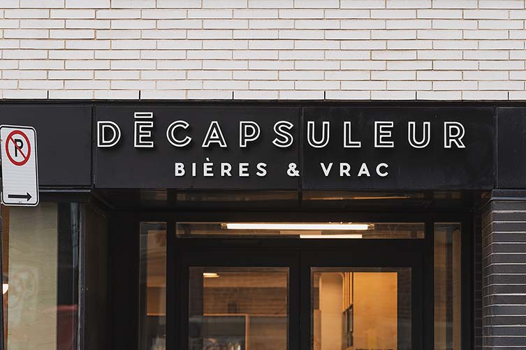 Le Décapsuleur Montreal Craft Beer Bottle Shop in Griffintown