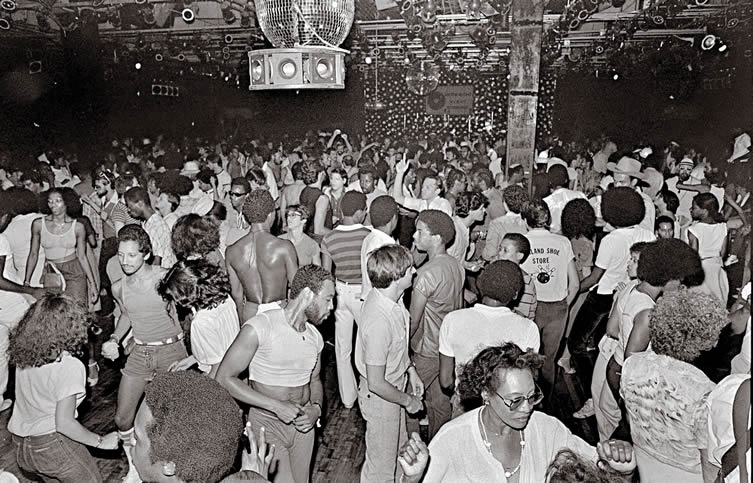 Dance floor at Paradise Garage, New York, 1978