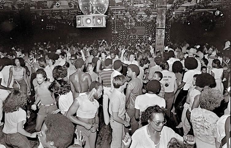 Dance floor at Paradise Garage, New York, 1978