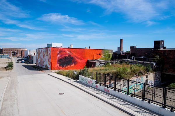 Murals in the market detroit for Detroit mural factory