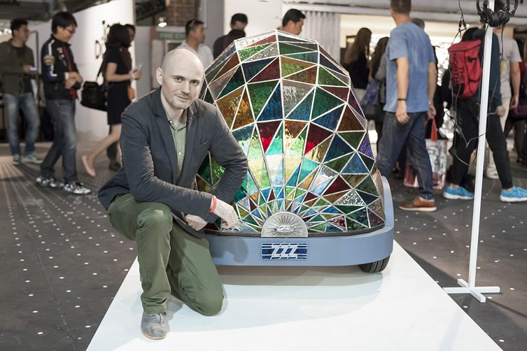 Dominic Wilcox at Dezeen and MINI Frontiers: The Future of Mobility, at London Design Festival 2014
