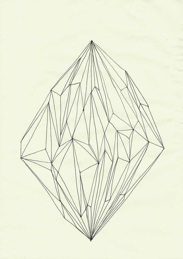Line Drawing Diamond : Diamonds in art and design
