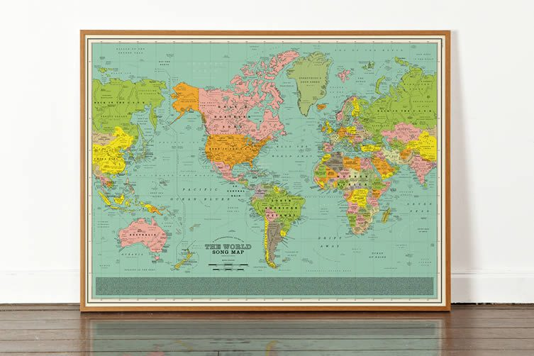 Dorothy, World Song Map