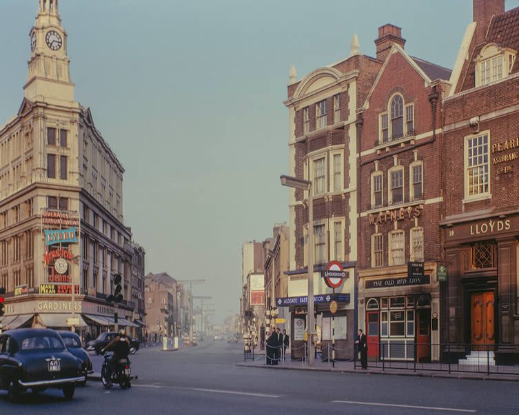 Gardiner's Corner, 1963, Colour Photographs of London East End