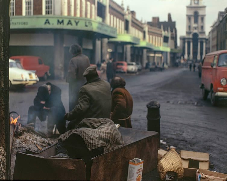 Spitalfields Market, 1973, Colour Photographs of London East End