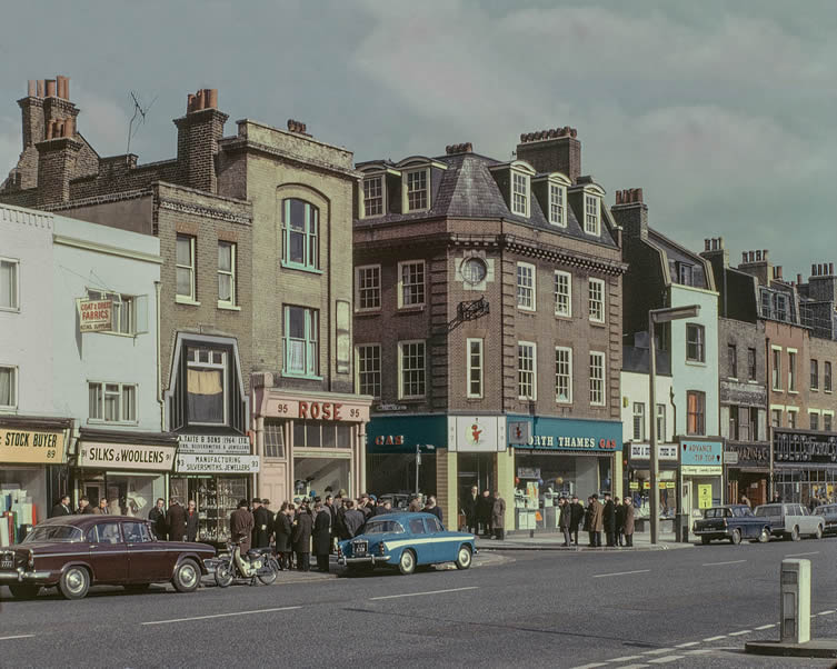 Whitechapel Road, 1965, Colour Photographs of London East End