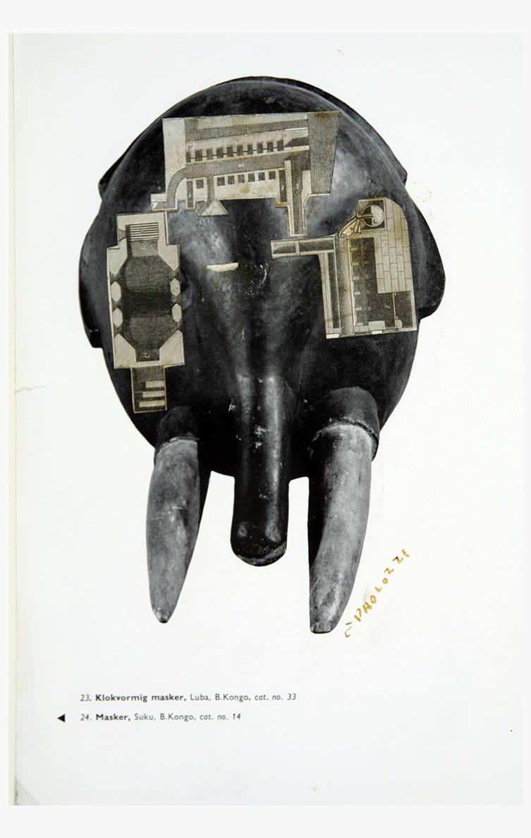 Eduardo Paolozzi Klokvormig Masker, 1946-47