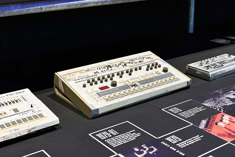 Electronic: From Kraftwerk to The Chemical Brothers exhibition installation