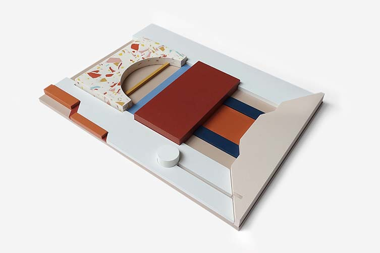 Emily Forgot, RESORT: Hand Painted Wood and Jesmonite Terrazzo Assemblages