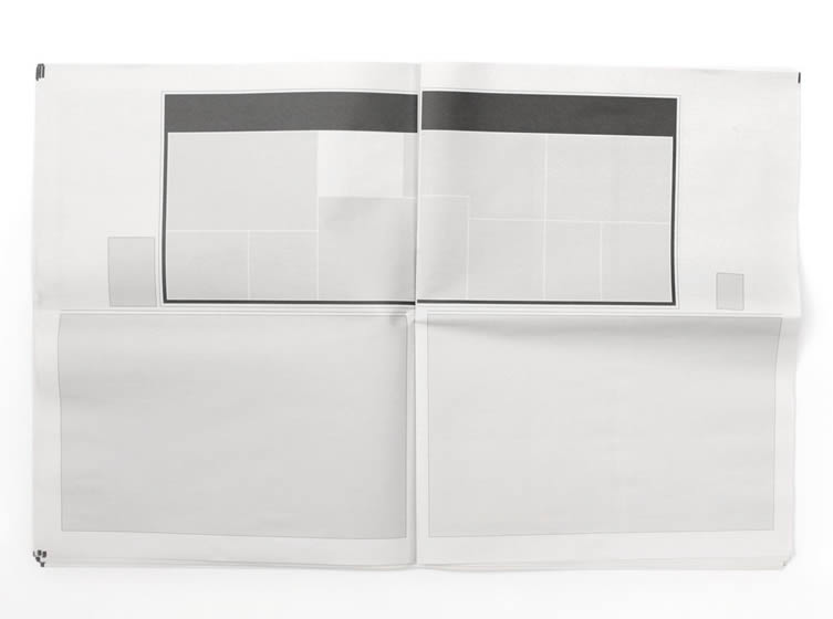 Newspapers with nothing in them, by artist Joseph Ernst