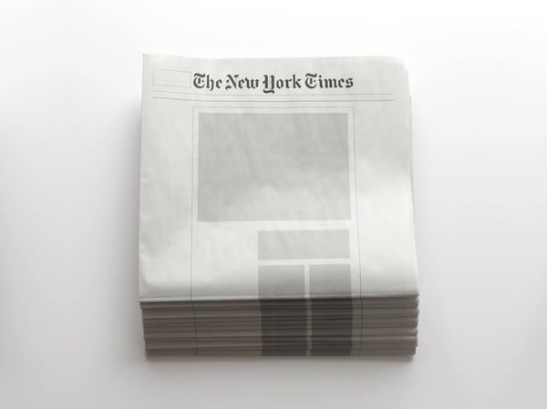 Joseph Ernst, Nothing in the News: Newspapers from around the world with nothing in them