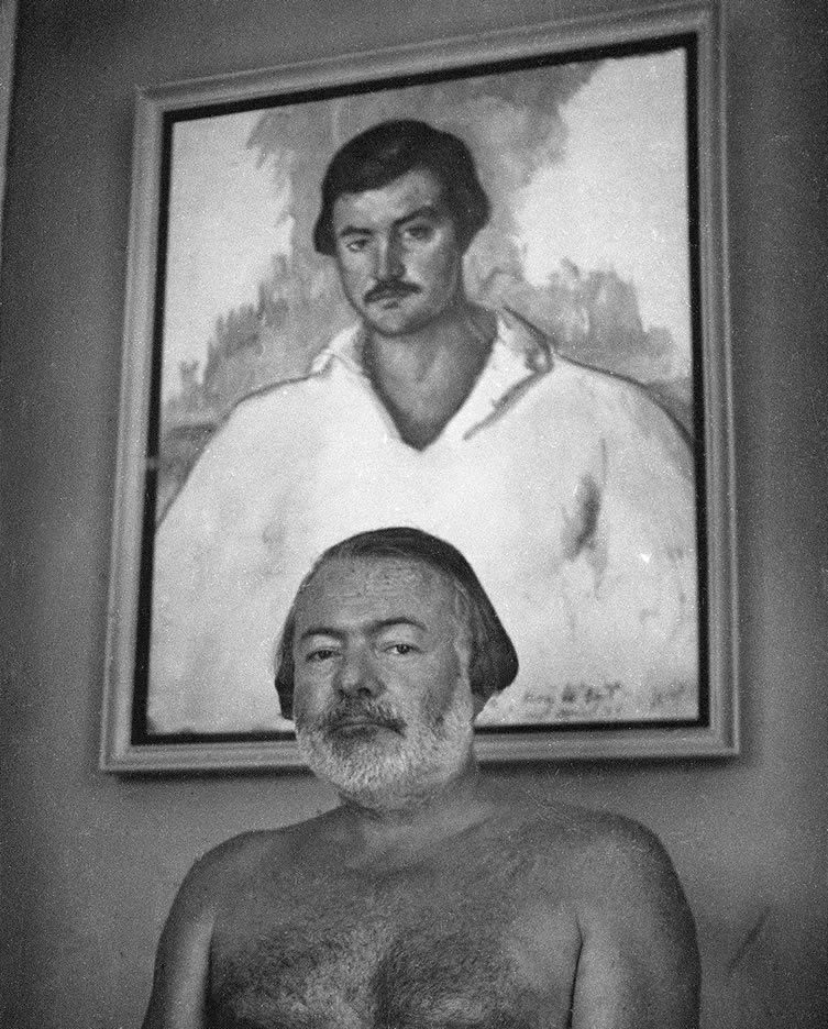 Photograph of Hemingway at the Finca Vigia