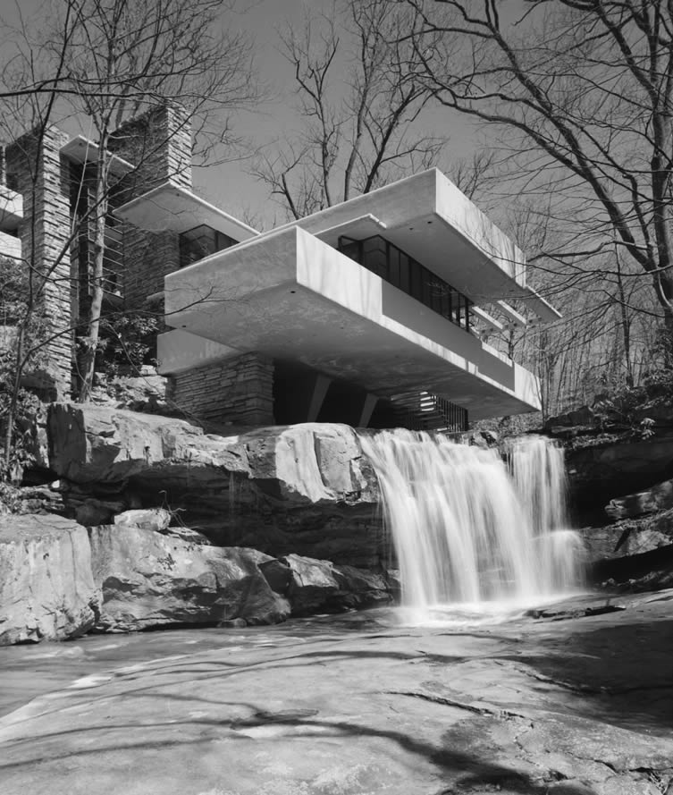Fallingwater, Frank Lloyd Wright, Bear Run, PA, 1971