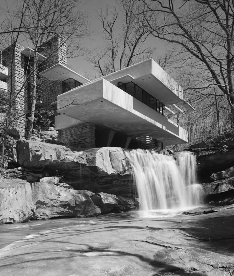 Fallingwater, Frank Lloyd Wright, Bear Run, PA, 1971