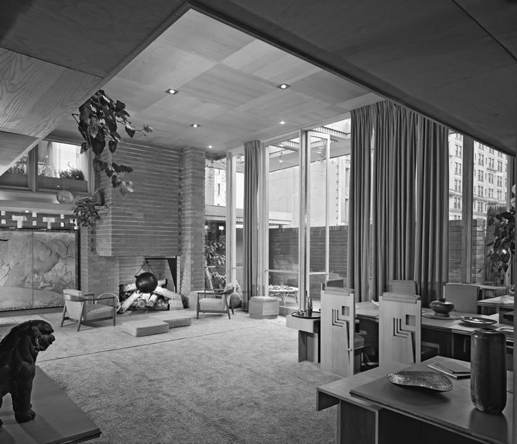 Usonian House at Guggenheim, Frank Lloyd Wright, New York, NY, 1951
